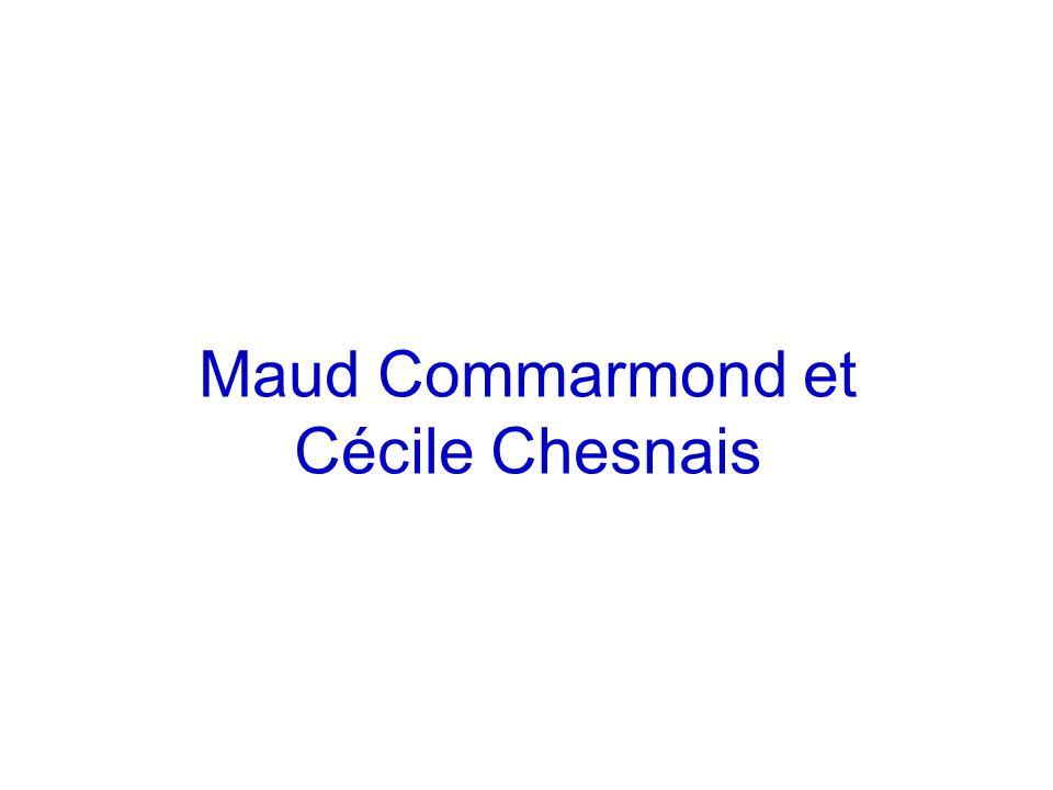 Maud Commarmond et Cécile Chesnais