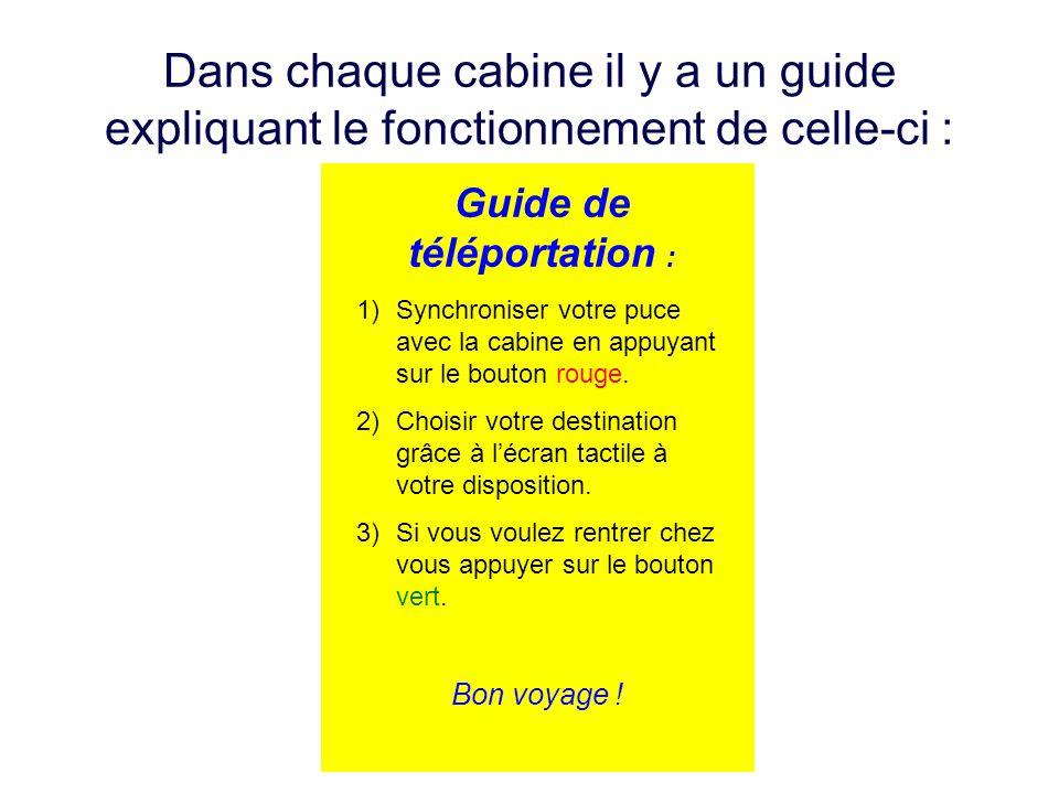 Guide de téléportation :
