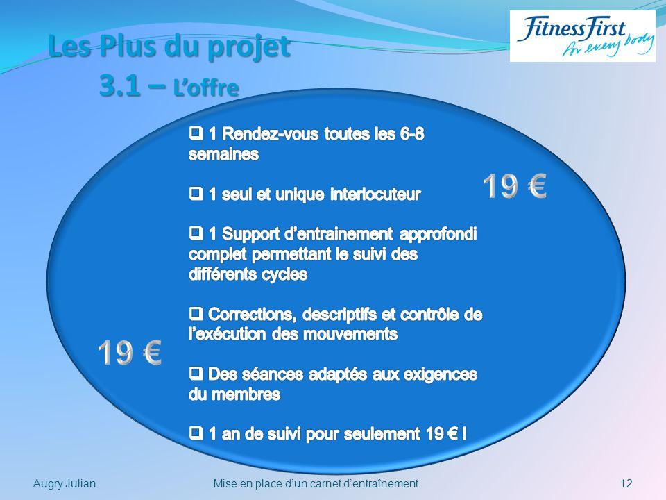 Les Plus du projet 3.1 – L'offre