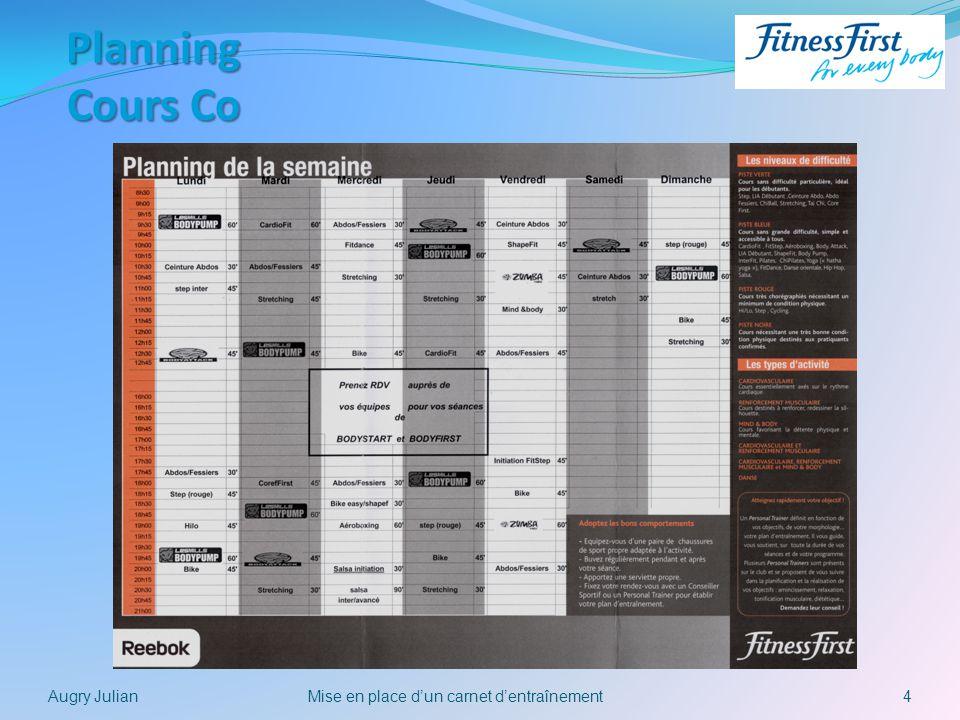 Mise en place d'un carnet d'entraînement