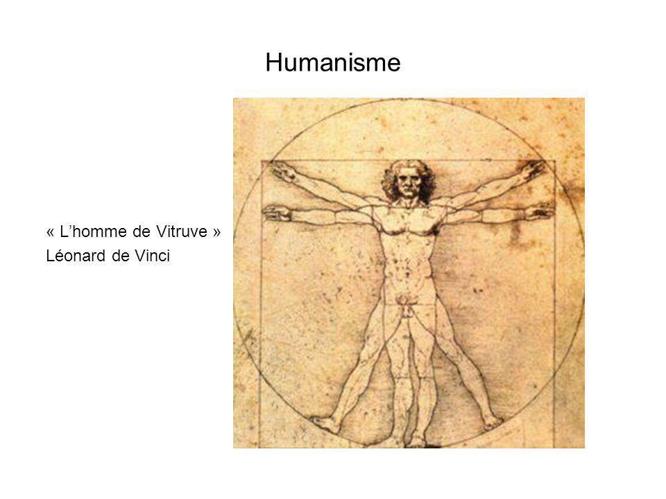 Humanisme « L'homme de Vitruve » Léonard de Vinci