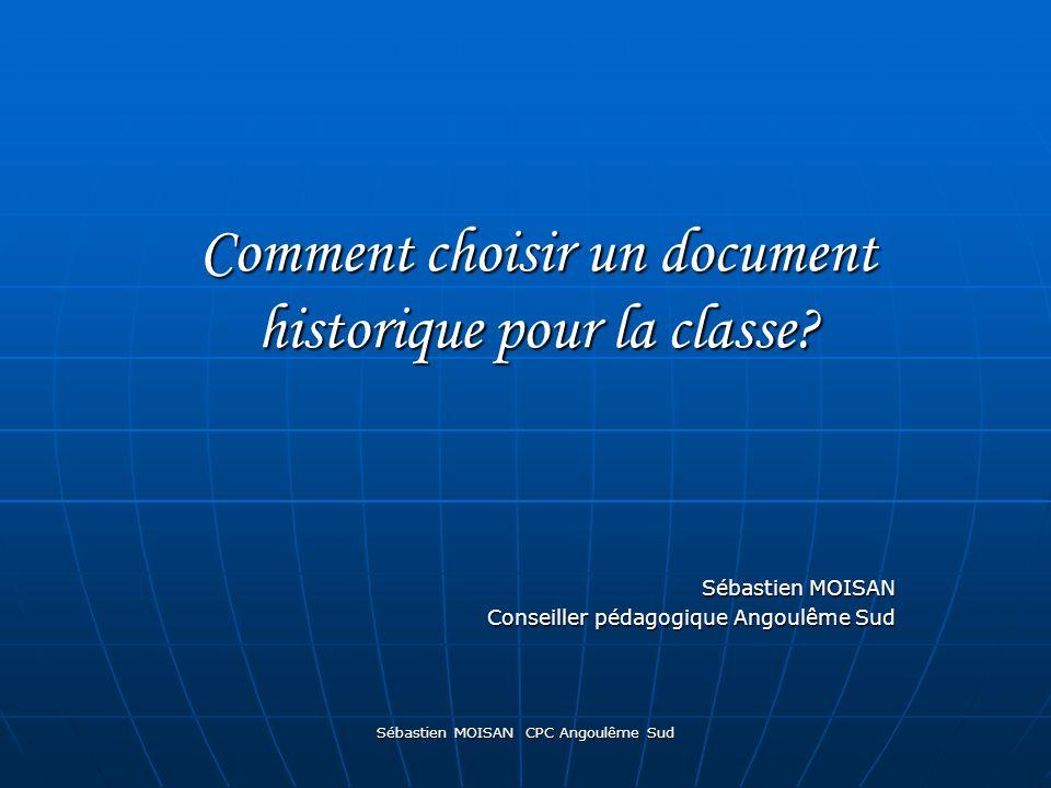 Comment choisir un document historique pour la classe