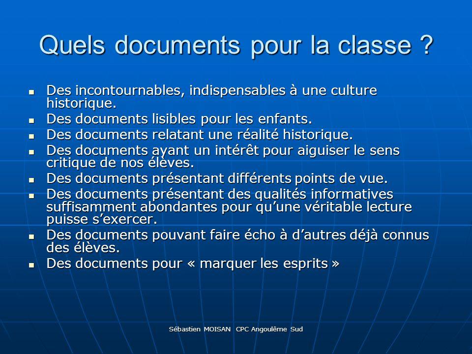 Quels documents pour la classe