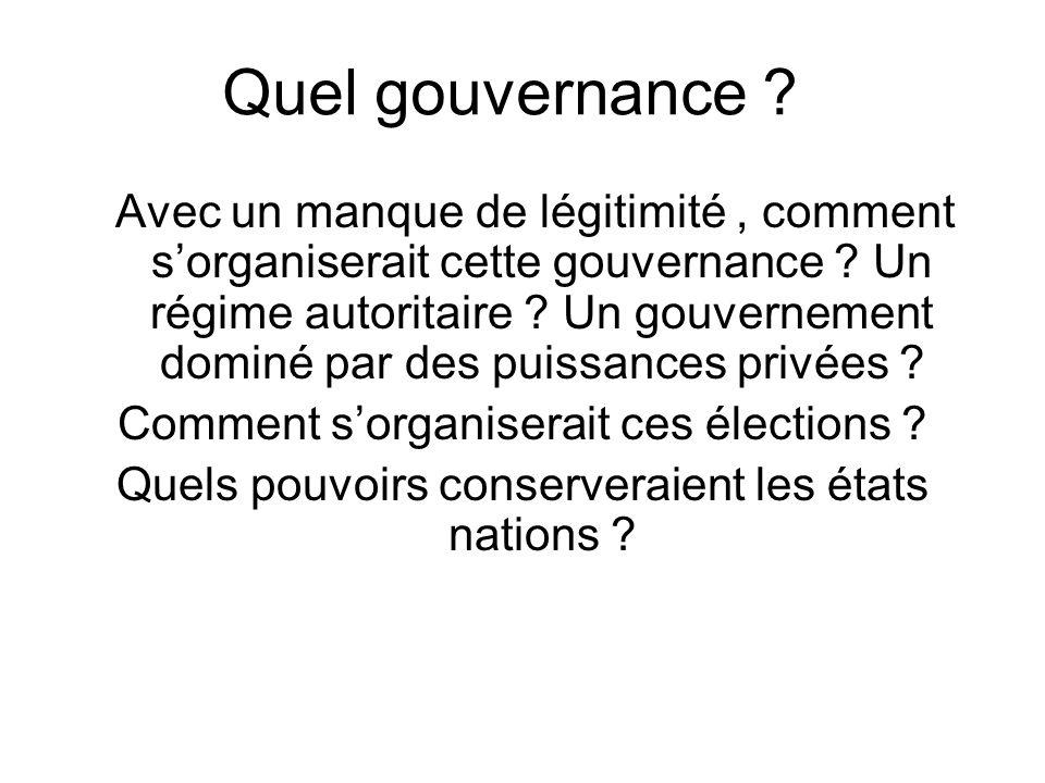 Quel gouvernance