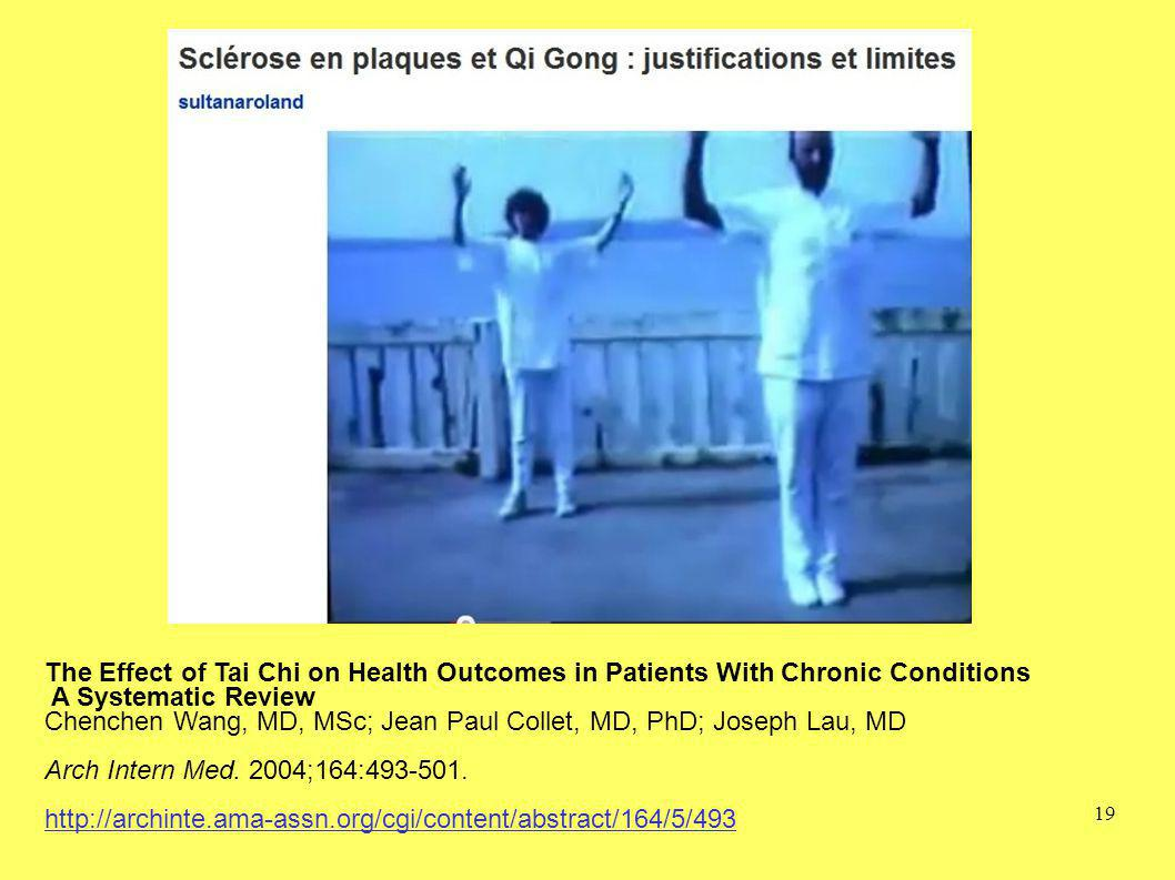 The Effect of Tai Chi on Health Outcomes in Patients With Chronic Conditions