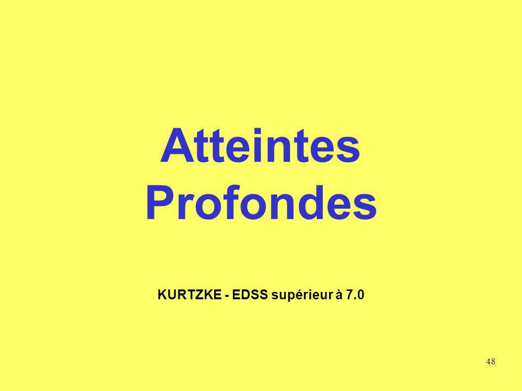 KURTZKE - EDSS supérieur à 7.0