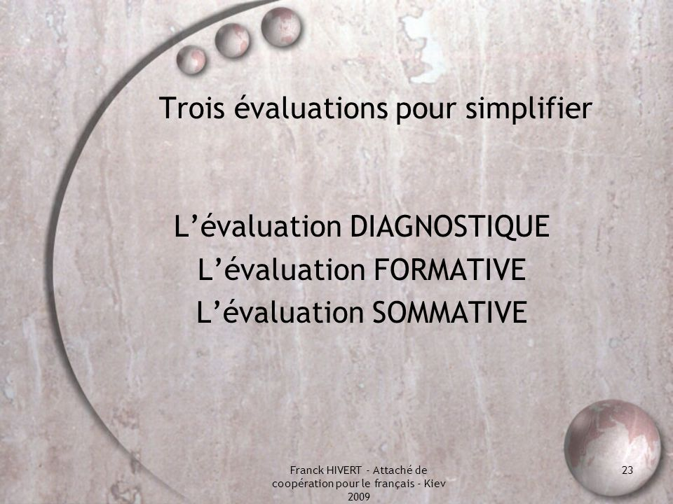 Evaluation, évaluations éviter la confusion des genres