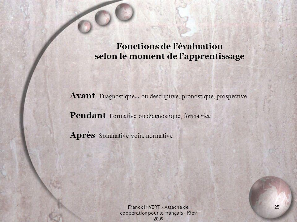 Les trois types d'évaluation et leurs relations