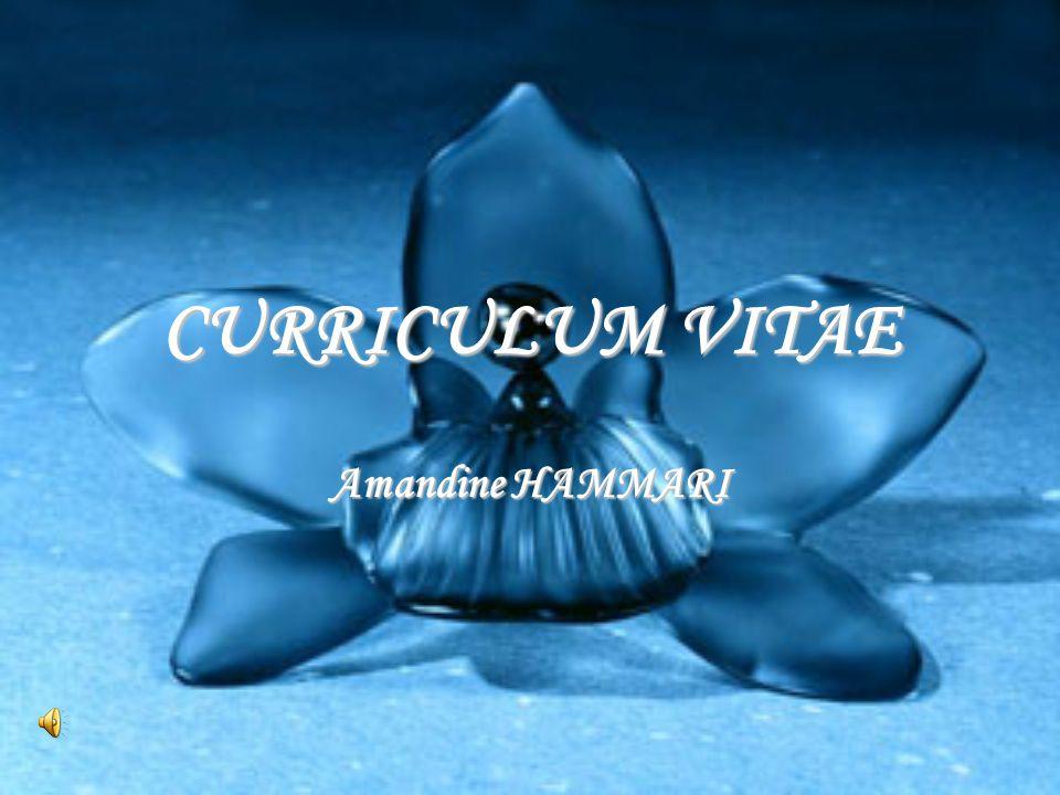 CURRICULUM VITAE Amandine HAMMARI