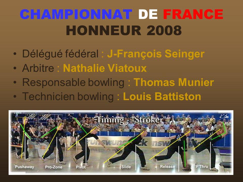 CHAMPIONNAT DE FRANCE HONNEUR 2008