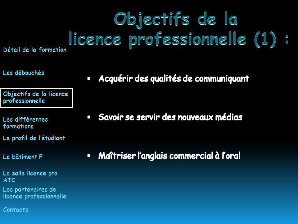 licence professionnelle (1) :