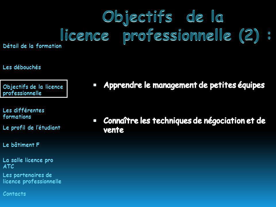 licence professionnelle (2) :