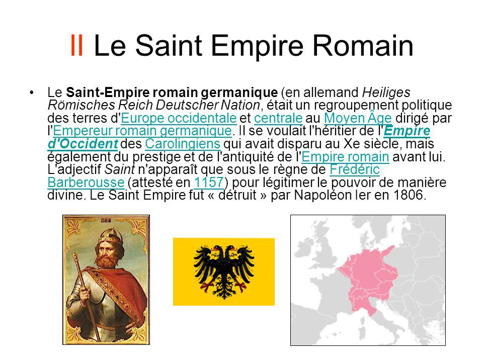 II Le Saint Empire Romain