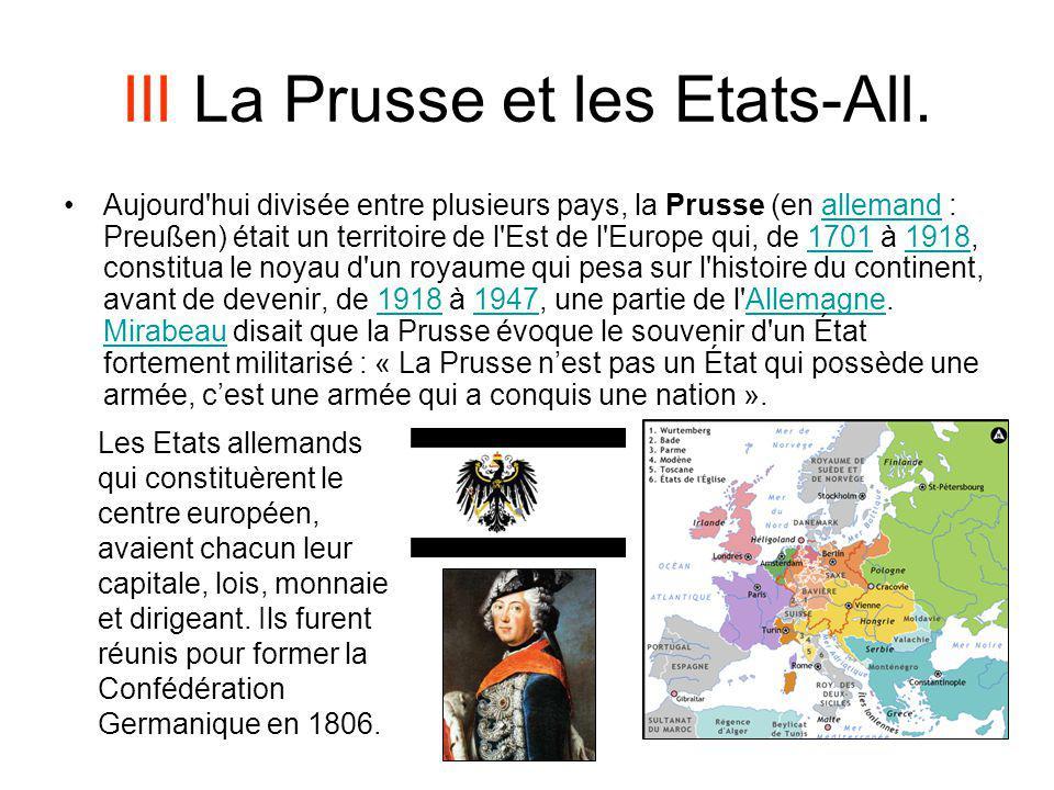 III La Prusse et les Etats-All.