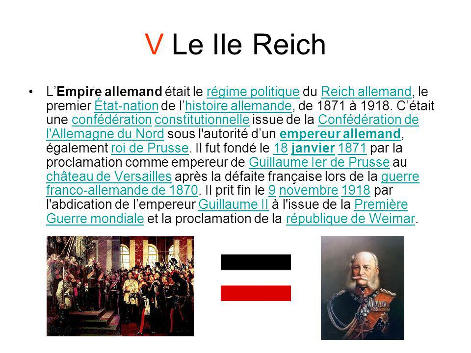 V Le IIe Reich