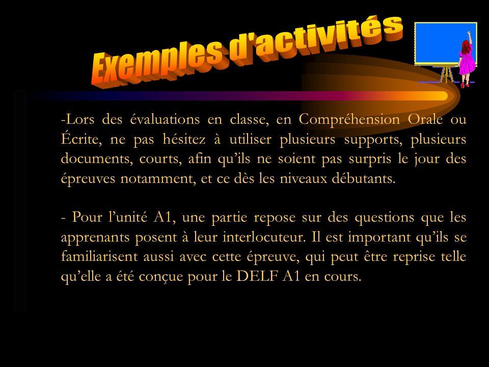 Exemples d activités