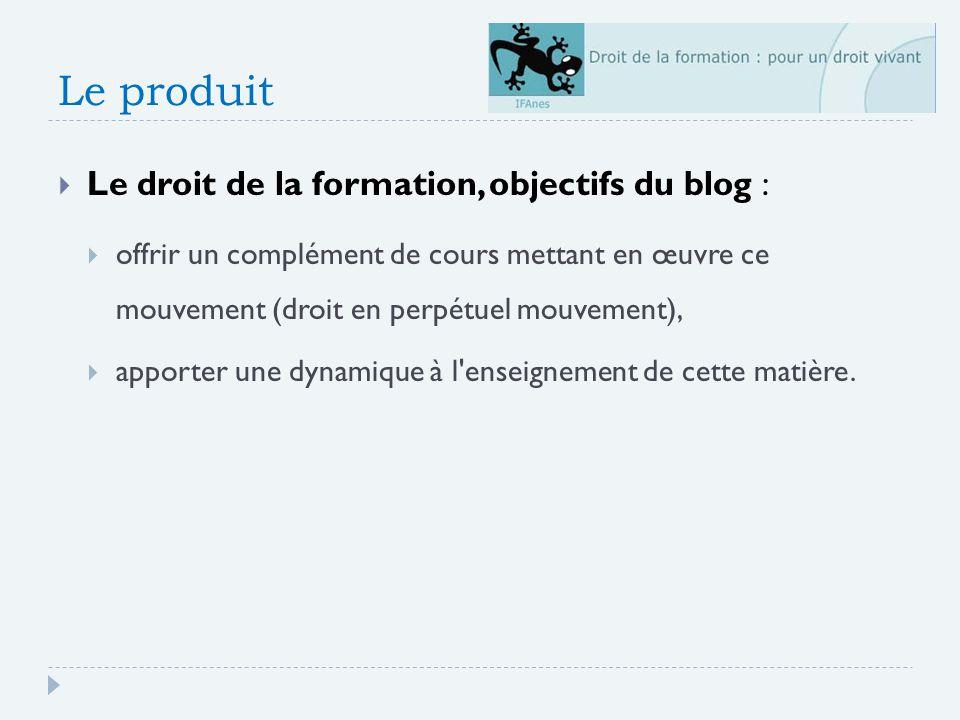Le produit Le droit de la formation, objectifs du blog :