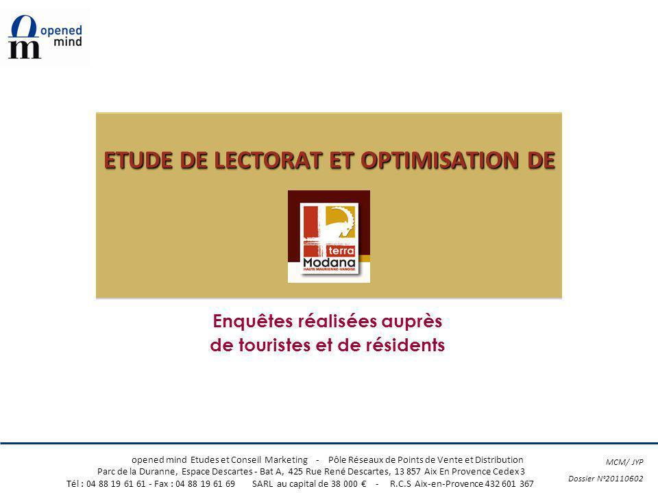 ETUDE DE LECTORAT ET OPTIMISATION DE