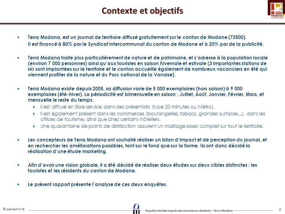 Contexte et objectifs Terra Modana, est un journal de territoire diffusé gratuitement sur le canton de Modane (73500).