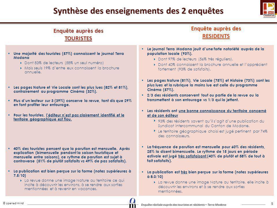 Synthèse des enseignements des 2 enquêtes