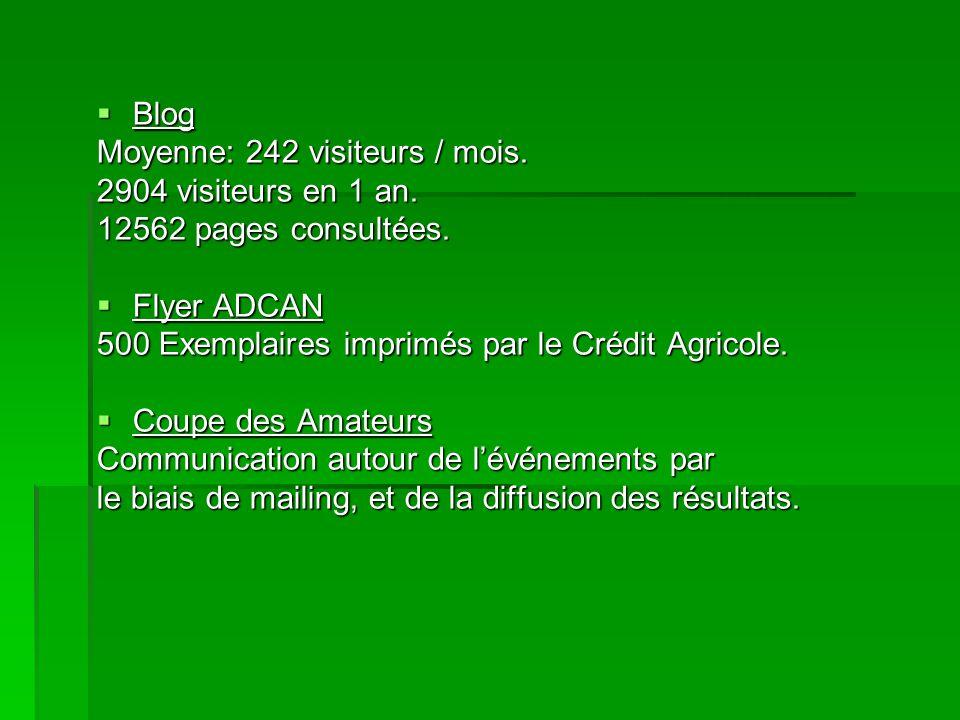 Blog Moyenne: 242 visiteurs / mois. 2904 visiteurs en 1 an. 12562 pages consultées. Flyer ADCAN.