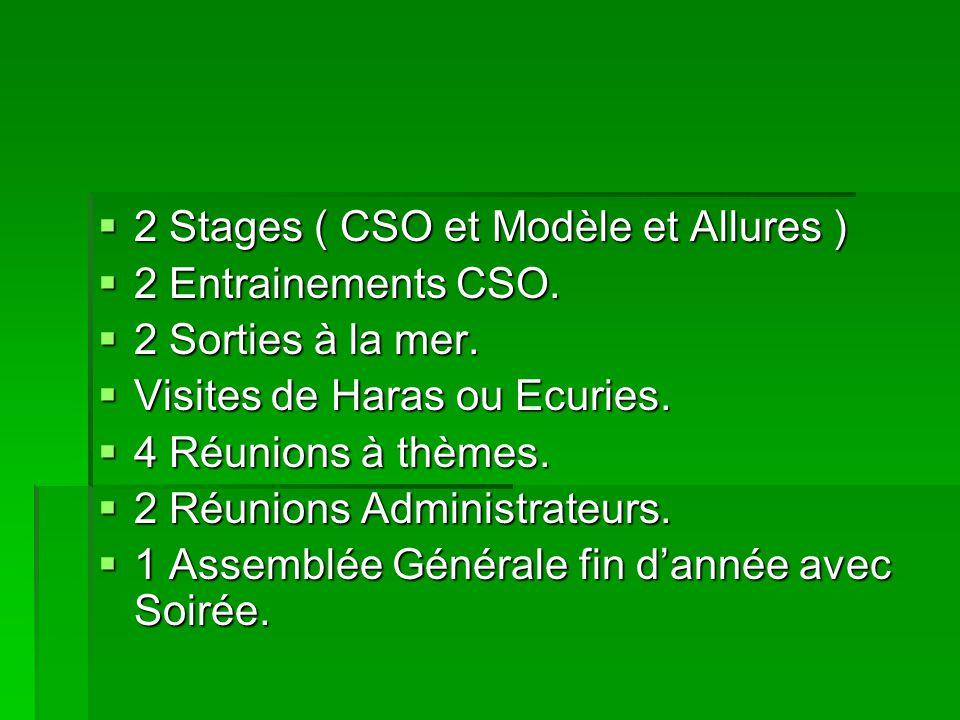 2 Stages ( CSO et Modèle et Allures )