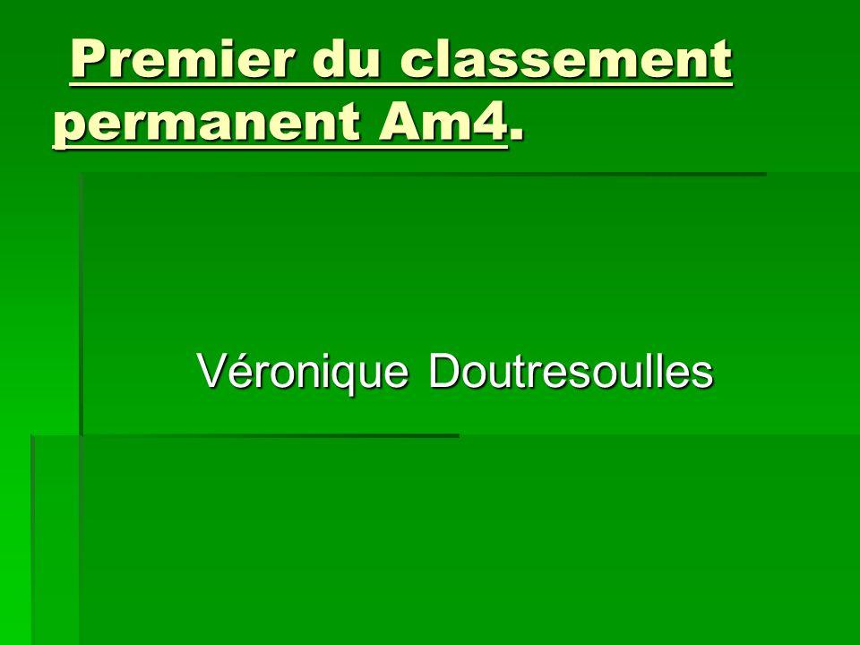 Premier du classement permanent Am4.