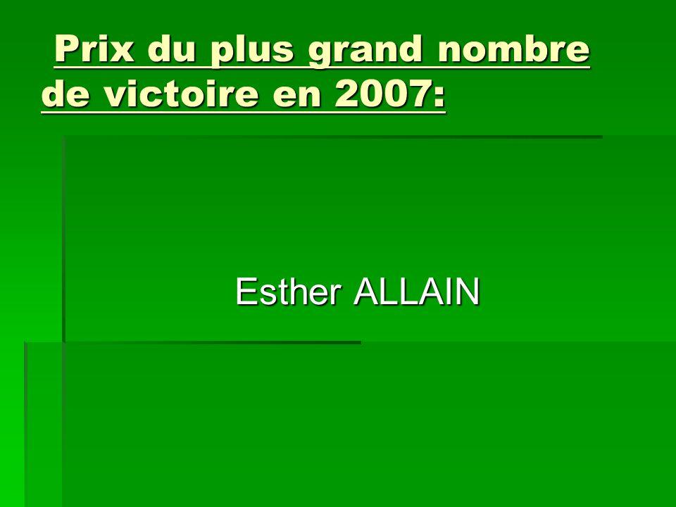 Prix du plus grand nombre de victoire en 2007: