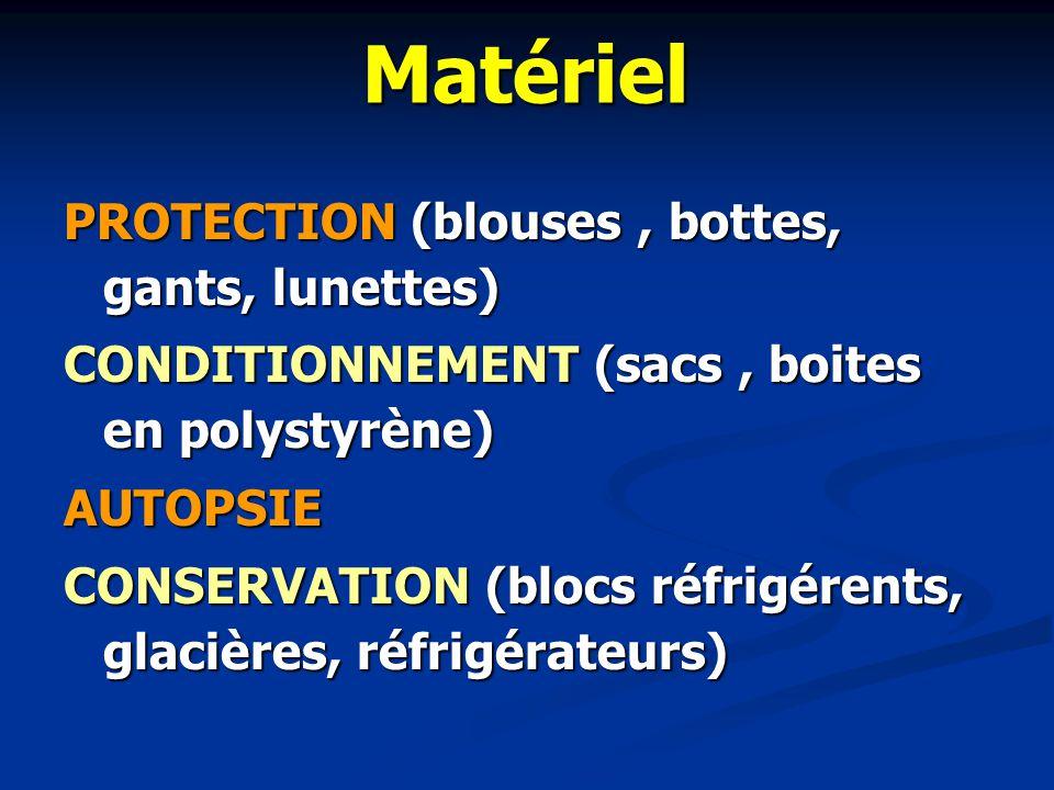 Matériel PROTECTION (blouses , bottes, gants, lunettes)