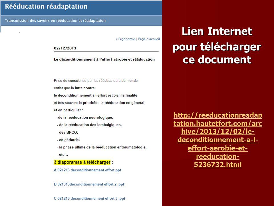 Lien Internet pour télécharger ce document
