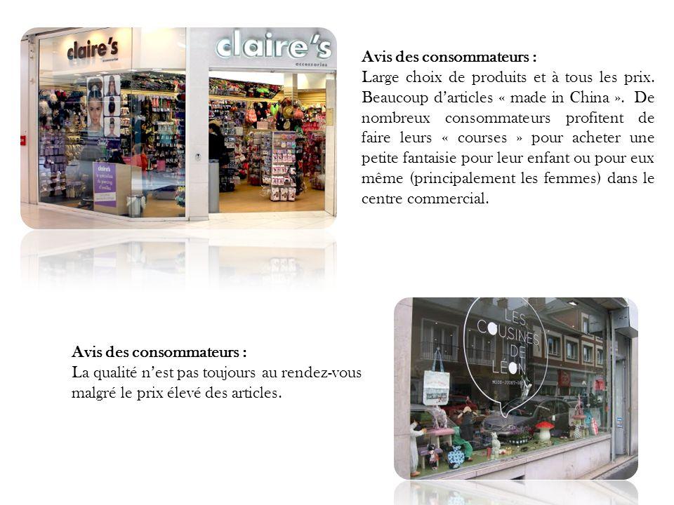 Avis des consommateurs :