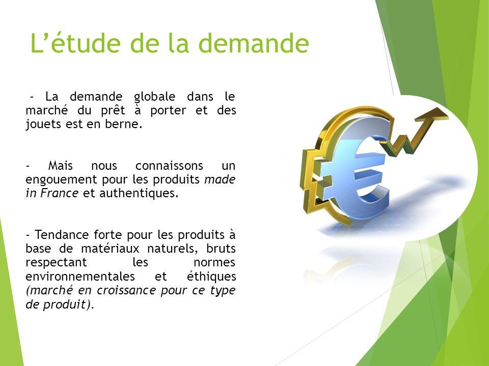 L'étude de la demande - La demande globale dans le marché du prêt à porter et des jouets est en berne.