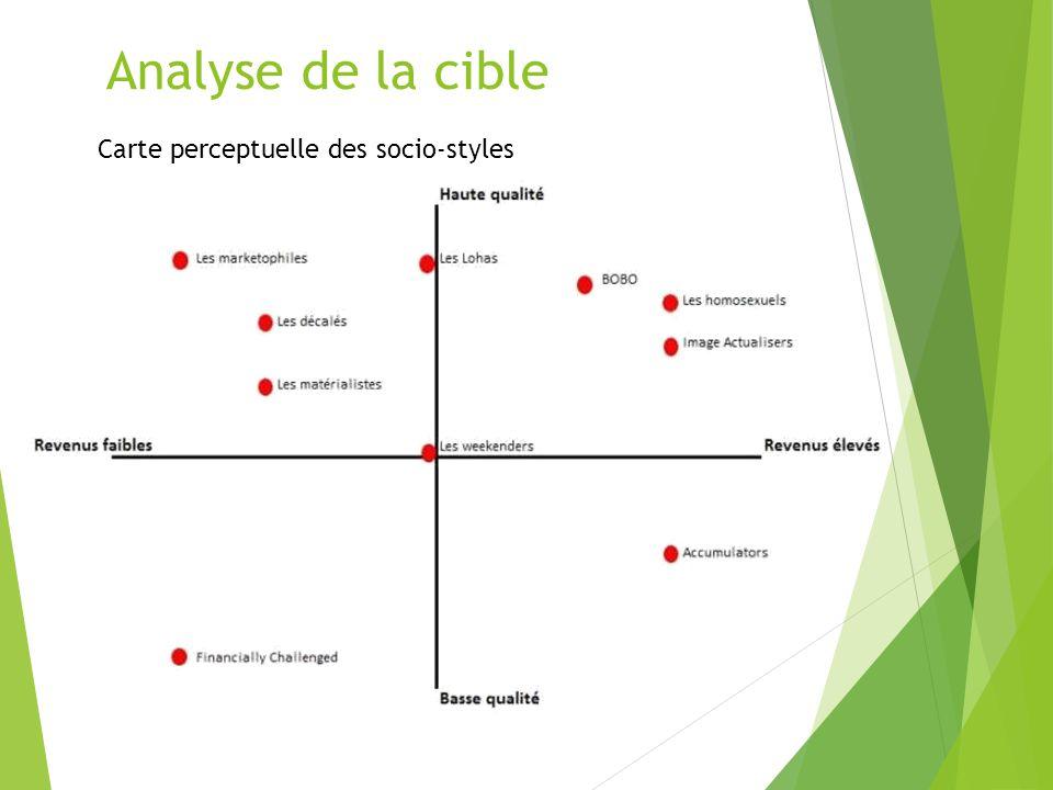 Analyse de la cible Carte perceptuelle des socio-styles