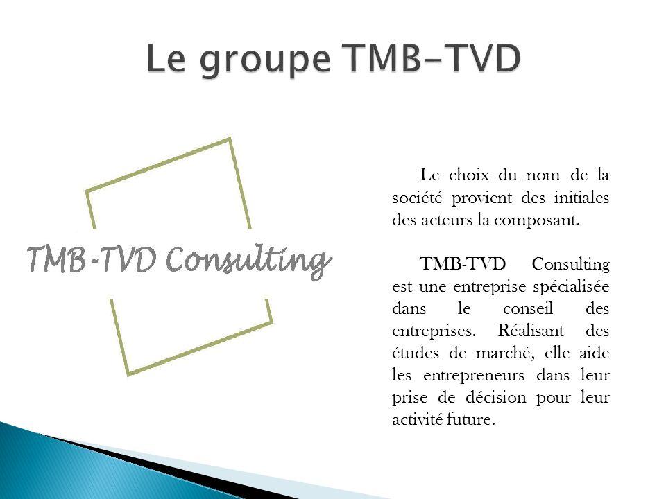 Le groupe TMB-TVD Le choix du nom de la société provient des initiales des acteurs la composant.