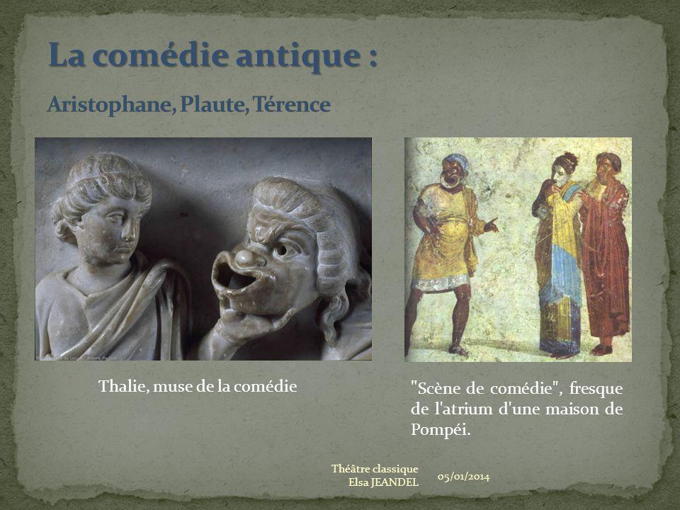 Aristophane, Plaute, Térence