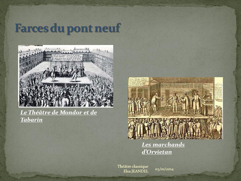 Farces du pont neuf Le Théâtre de Mondor et de Tabarin