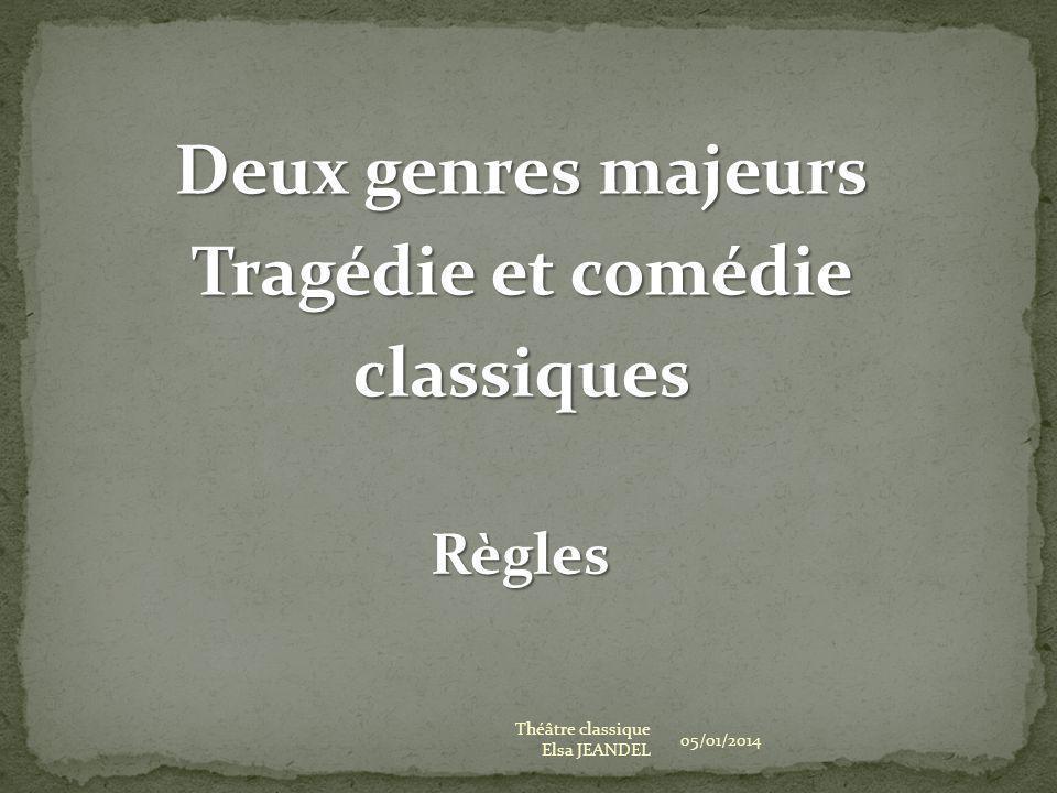 Deux genres majeurs Tragédie et comédie classiques