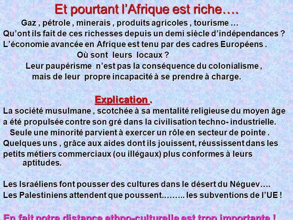 Et pourtant l'Afrique est riche….