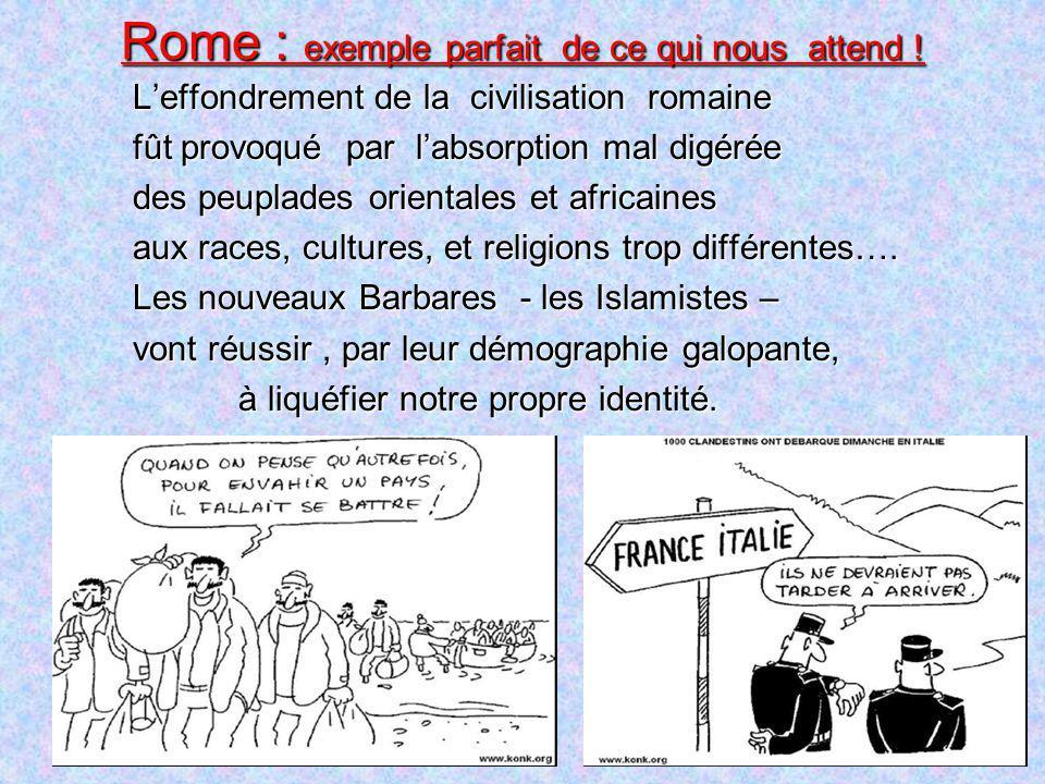 Rome : exemple parfait de ce qui nous attend !