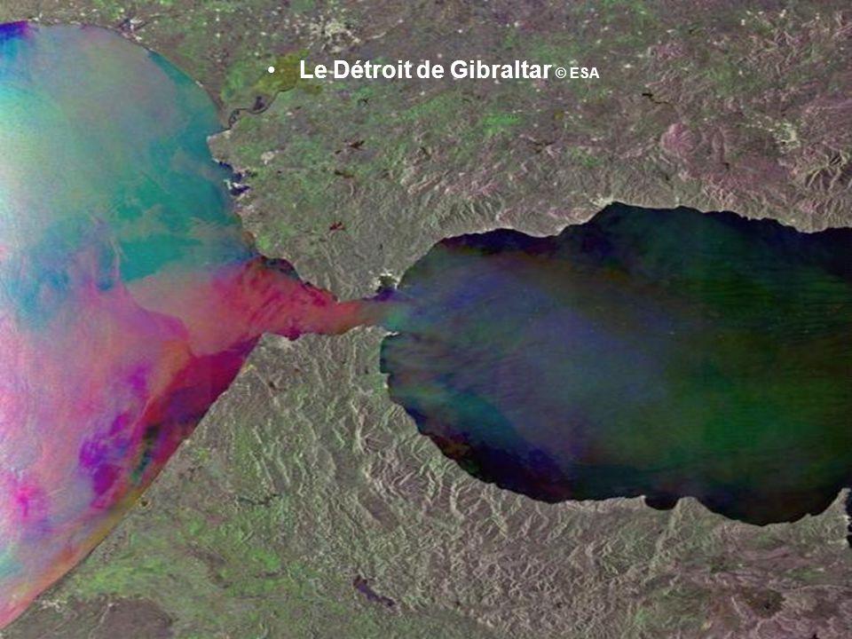 Le Détroit de Gibraltar © ESA