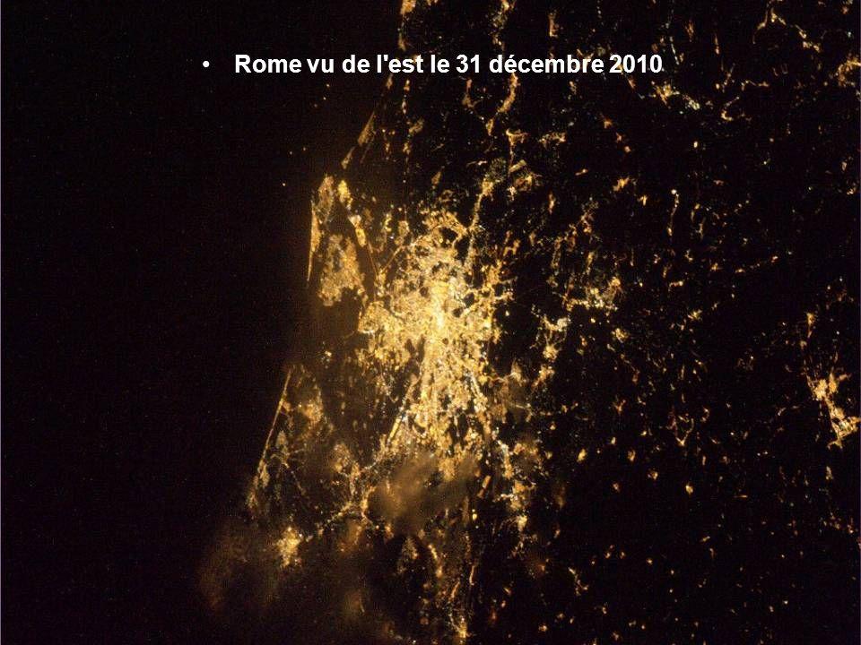 Rome vu de l est le 31 décembre 2010