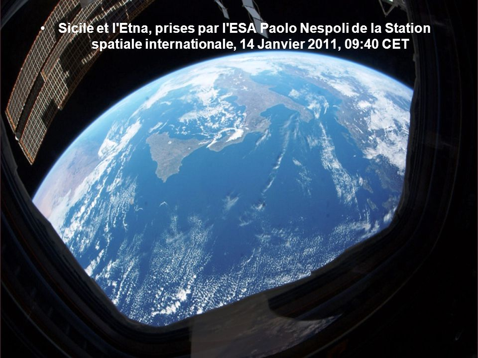 Sicile et l Etna, prises par l ESA Paolo Nespoli de la Station