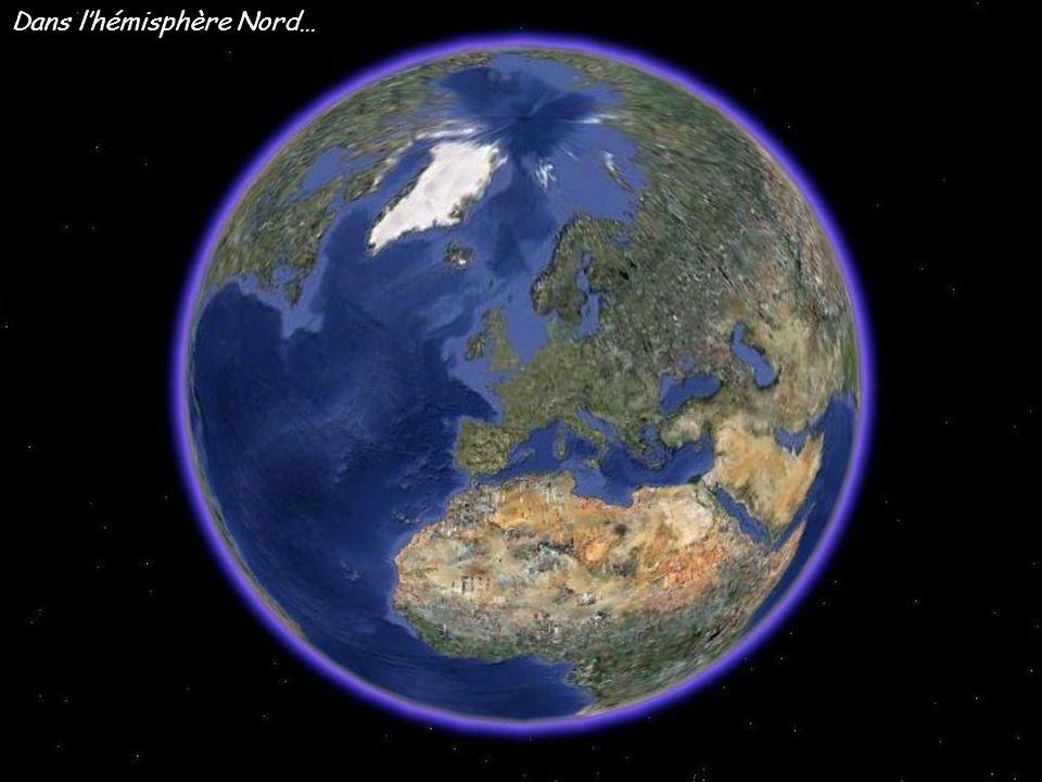 Dans l'hémisphère Nord…