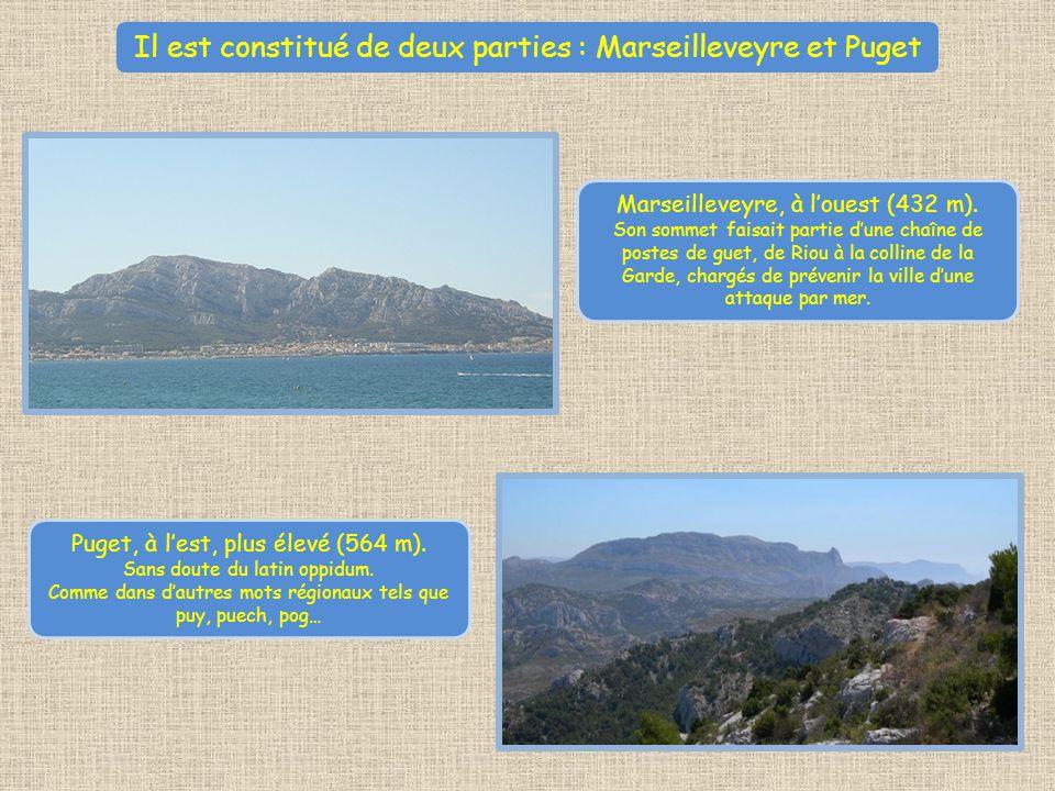 Il est constitué de deux parties : Marseilleveyre et Puget