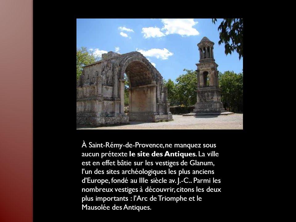 À Saint-Rémy-de-Provence, ne manquez sous aucun prétexte le site des Antiques.