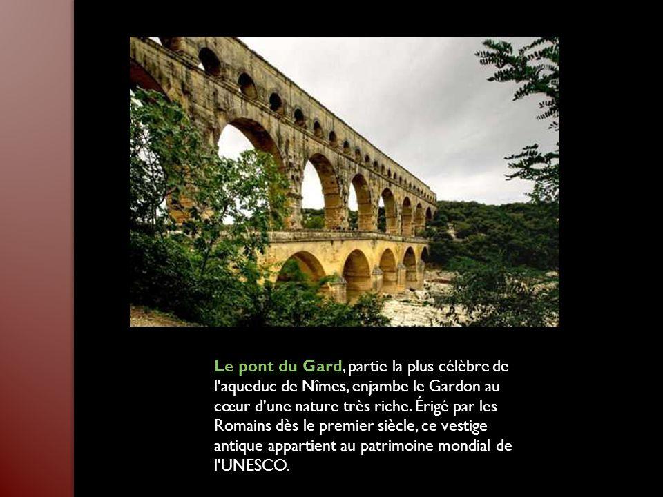 Le pont du Gard, partie la plus célèbre de l aqueduc de Nîmes, enjambe le Gardon au cœur d une nature très riche.