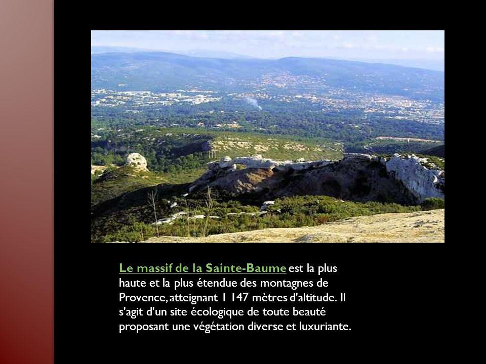 Le massif de la Sainte-Baume est la plus haute et la plus étendue des montagnes de Provence, atteignant 1 147 mètres d altitude.