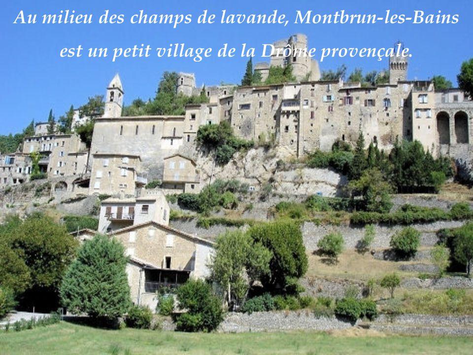 Au milieu des champs de lavande, Montbrun-les-Bains est un petit village de la Drôme provençale.