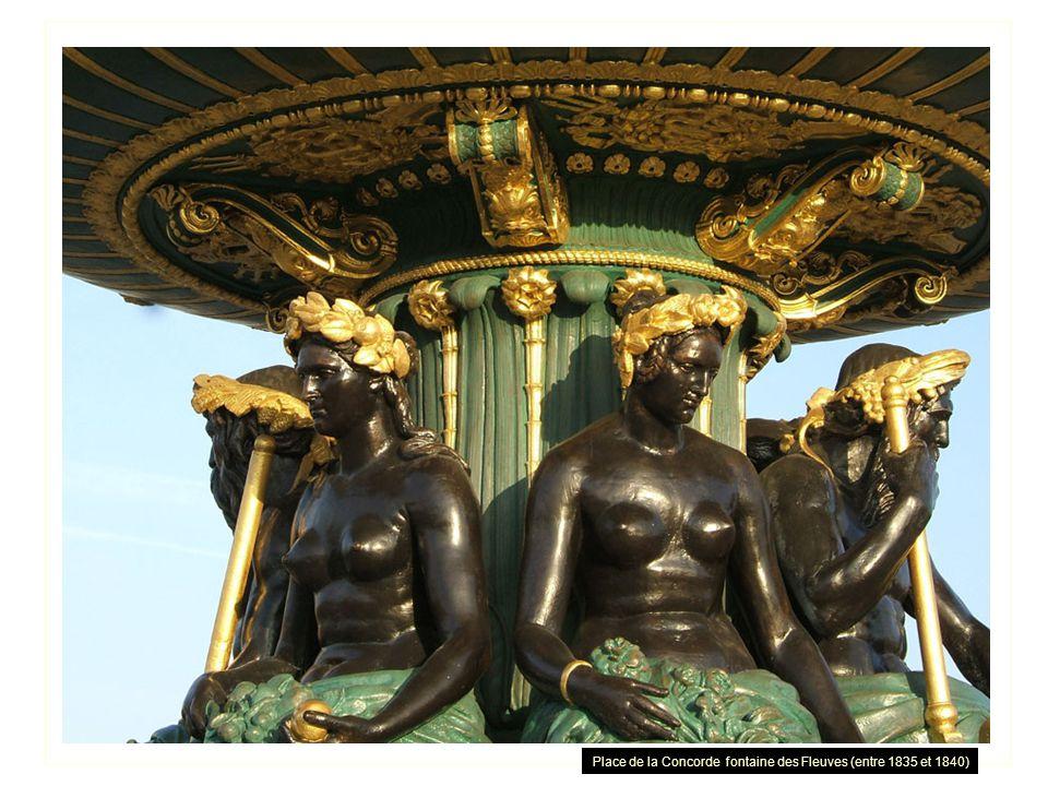 Place de la Concorde fontaine des Fleuves (entre 1835 et 1840)