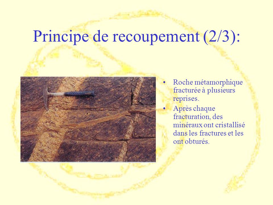 Principe de recoupement (2/3):